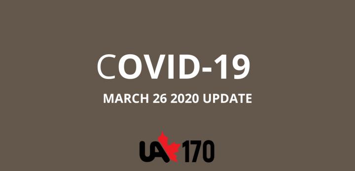 COVID-19 UPDATE MARCH 26 2020
