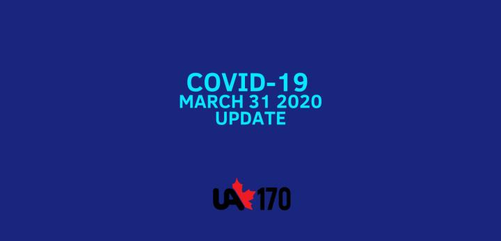 COVID-19 UPDATE MARCH 31 2020