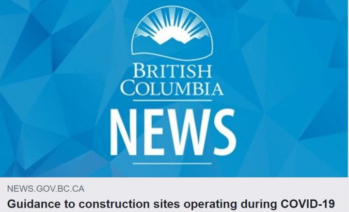 Provincial Guidelines for Construction Sites Operating during COVID-19