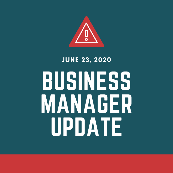 Business Manager Update June 23 2020