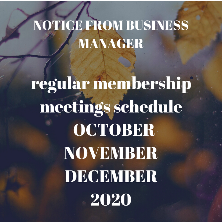 Fall Membership Meetings