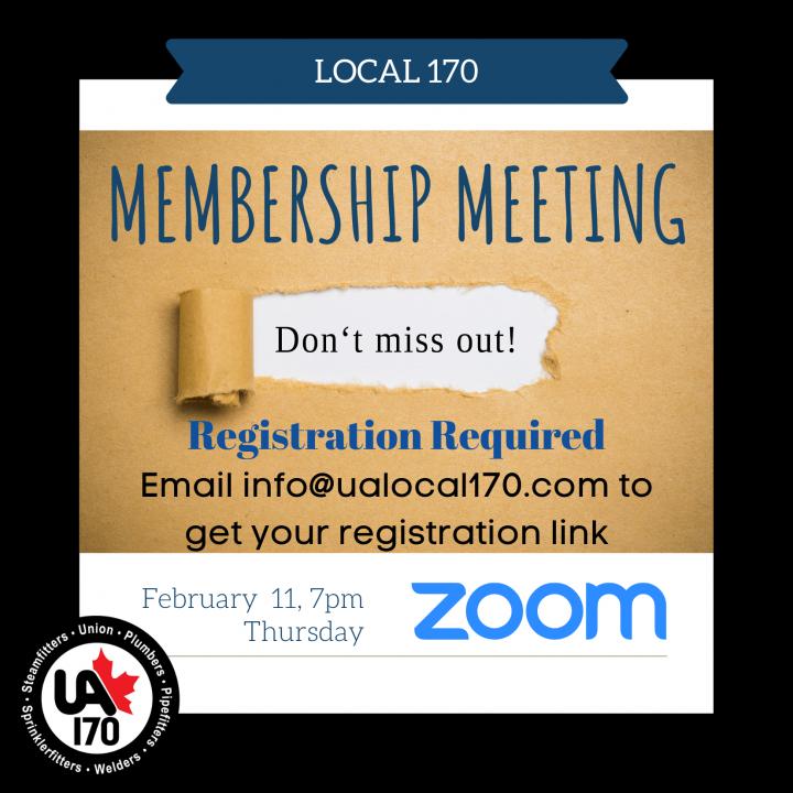 Regular Membership Meeting – February 11, 2021 – 7 pm