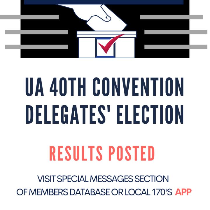 UA 40th Convention Delegates