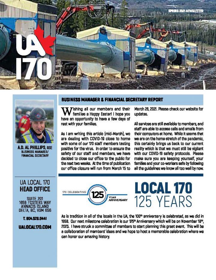 Spring 2021 Newsletter
