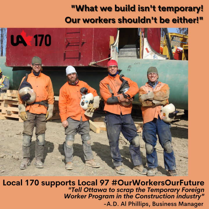 #Pipe Up: Add your name to the Petition to Ottawa:  Scrap the Temporary Foreign Worker Program in the Construction Industry