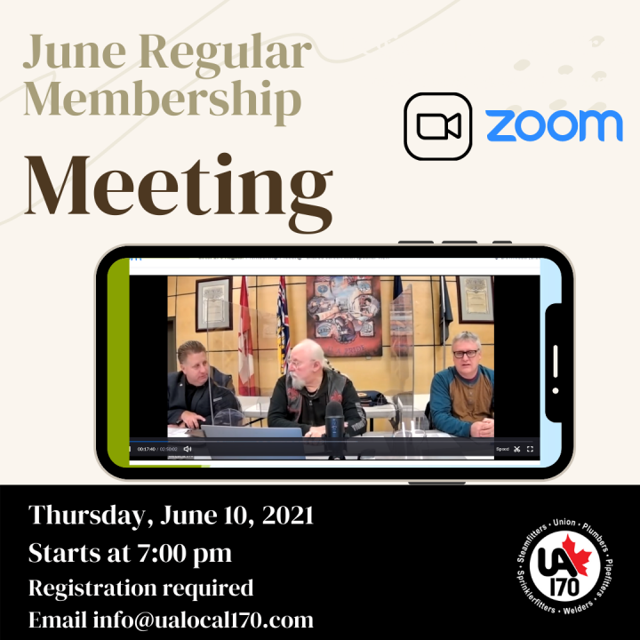 June Regular Membership Meeting – June 10