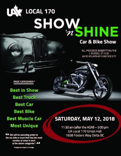UA Local 170 Show 'n Shine